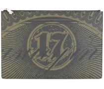 Clutch mit Dollarschein-Print