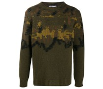 Strickpullover in Distressed-Optik