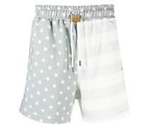 Shorts mit Flaggen-Print