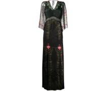 Brokat-Kleid mit Blumenmuster