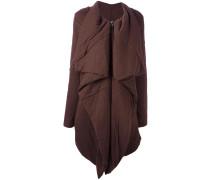 Asymmetrischer Mantel mit Reißverschluss