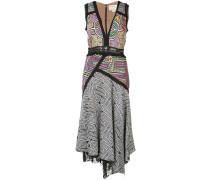 Asymmetrisches Kleid mit ärmellosem Design