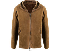 hooded sheep skin jacket