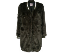 faux fur bomber coat