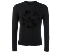 floral embroidery longsleeves T-shirt