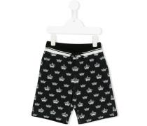 Shorts mit Kronen-Print