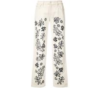 Jeans mit Blumenmuster - women