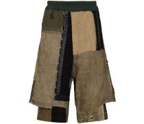 Shorts im Patchwork-Design