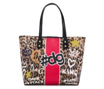 Beatrice graffiti print shopper tote bag
