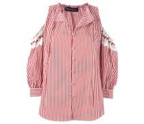 Schulterfreies Hemd mit Streifen