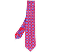 - geometric square print tie - men - Baumwolle