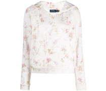 floral cotton hoodie
