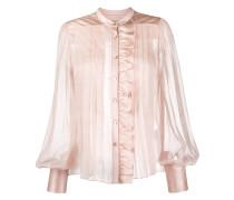 Semi-transparente Bluse mit Falten