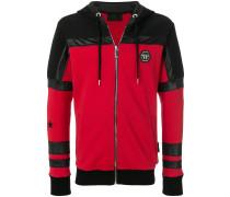 logo patch zipped jacket