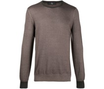 round neck virgin wool jumper