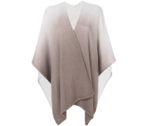 multi-tonal knitted cape
