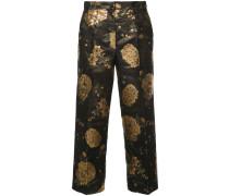 foil print trousers