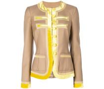 contrasting trim jacket
