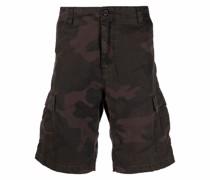 Cargo-Shorts mit Camouflage-Print