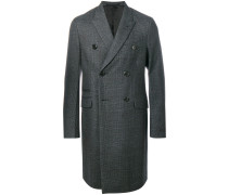 Doppelreihiger Mantel mit Karomuster