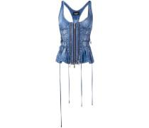 Jeans-Oberteil mit Reißverschluss