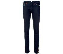 Skinny-Jeans mit Stickerei