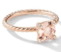 18kt Châtelaine Rotgoldring mit Diamanten