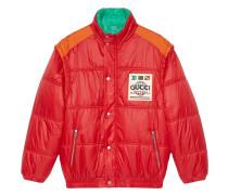 Gefütterter Mantel mit Logo-Patch