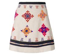 bead embroidered mini skirt