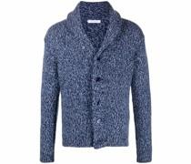 purl-knit shawl-lapels cardigan