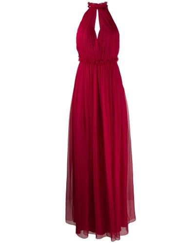 Langes Neckholder-Kleid