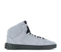 embossed hi top sneakers