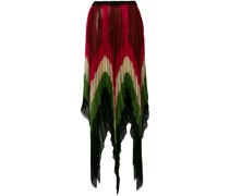 jagged micro pleated skirt