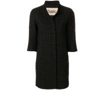 cropped sleeve coat