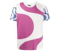 'Aweyh' T-Shirt mit abstraktem Print