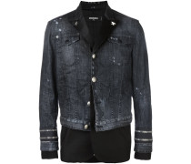 Jeansjacke im Materialmix - men