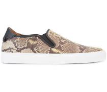 snakeskin effect sneakers