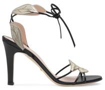 Sandalen mit Blattmotiv
