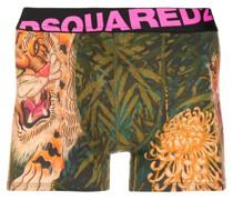 "Shorts mit ""Jungle Tiger""-Print"