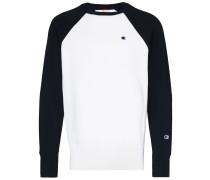 Zweifarbiges Sweatshirt mit Logo
