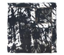 fringed animal print scarf