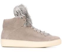 'Lucie' High-Top-Sneakers mit Pelzbesatz