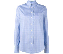 Kariertes Hemd mit Button-down-Kragen