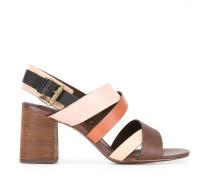Sandalen mit Schichtabsatz