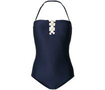 Schulterfreier Badeanzug mit Ringdetail
