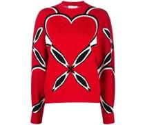 Intarsien-Pullover mit Herzmotiv