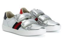 Metallic-Sneakers mit Webstreifen