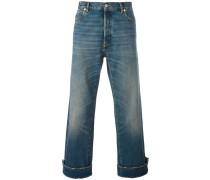 Cropped-Jeans mit hochgeklapptem Saum