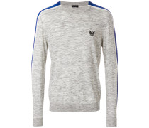 marl stripe panelled sweater