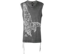 T-Shirt mit Ader-Print